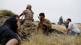 Libya GNA fighters on the outskirts of Tripoli, Libya May 21, 2019