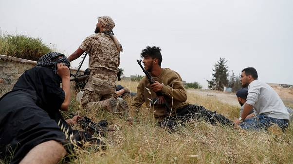 Libya GNA fighters on the outskirts of Tripoli, Libya May 21, 2019