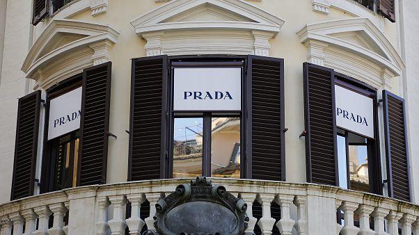 Prada storefront in Rome
