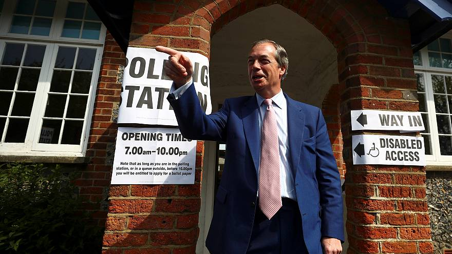"""نايجل فاراج زعيم حزب """"بريكست"""" البريطاني"""