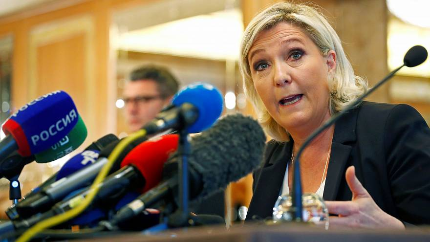 Marine Le Pen during a news conference in Milan, Italy May 18, 2019