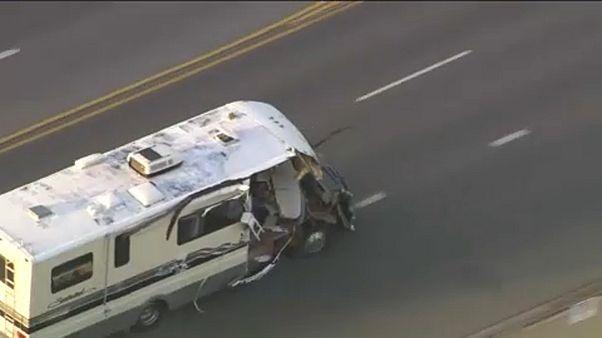 راننده خودروی سرقتی در لس آنجلس حادثه آفرید
