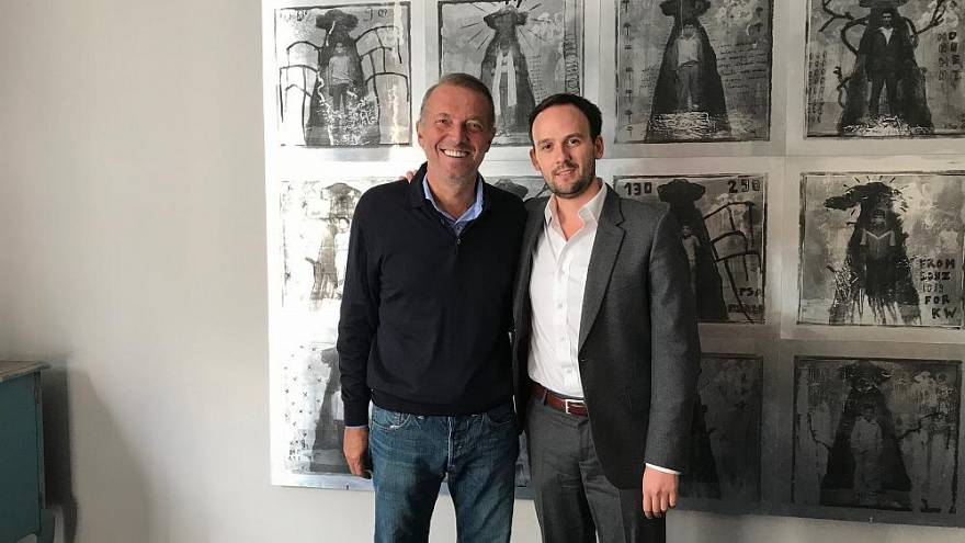 Cem Uzan ve Avukat'ı Matthias Pujos