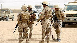 قوات سعودية في مأرب اليمنية