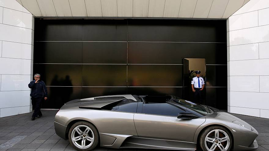A Lamborghini Murcielago 2007 to be auctioned, Mexico, May 21, 2019