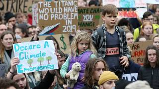 """A """"Climate Rally"""" in Melbourne, Australia on May 24, 2019."""