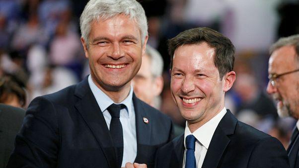 L. Wauquiez et F-X. Bellamy (Les Républicains), le 21/05/2019