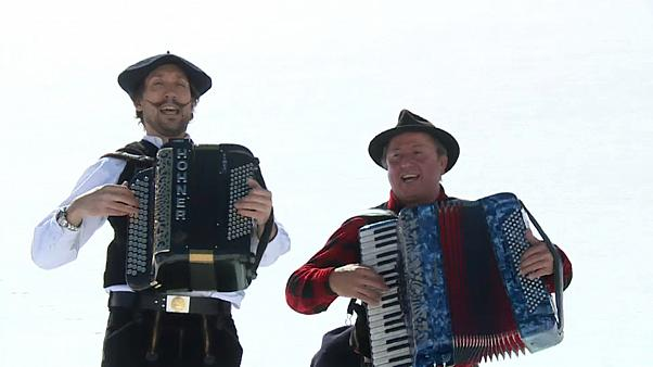 The reopening was celebrated by locals from both sides of the border