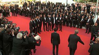 Leonardo DiCaprio and Orlando Bloom on Cannes red carpet