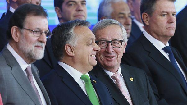 Orbán Viktor és Jean-Claude Juncker 2017-ben