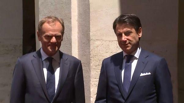 Nomine Ue: il premier Conte incontra il presidente del Consiglio Europeo Tusk a Roma