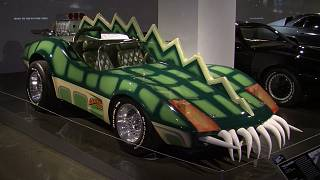 A car displayed at the Pertersen Automotive Museum in Los Angeles.