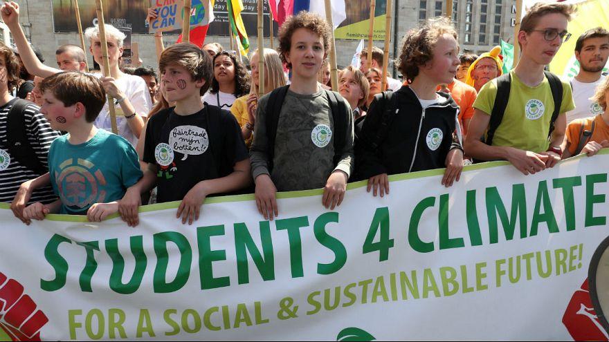 Luta estudantil contra alterações climáticas