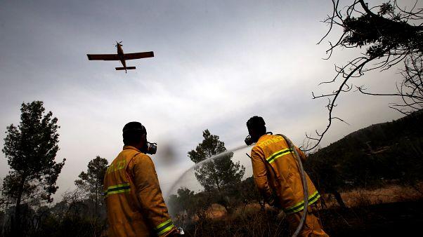 جهود إخماد الحرائق في إسرائيل