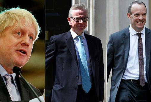 Gove, Raab join Boris Johnson and four others in race to replace May