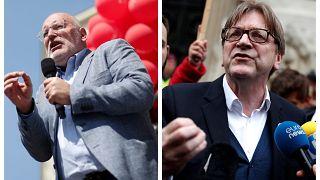 Ultimi comizi per il liberale Verhofstadt e il socialdemocratico Timmermans