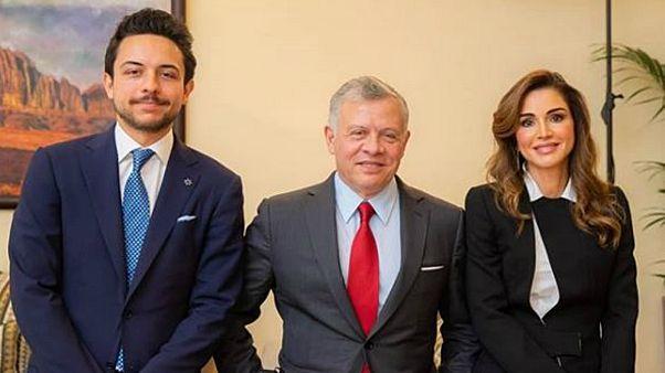 الملك عبد الله والملكة رانيا وابنهما