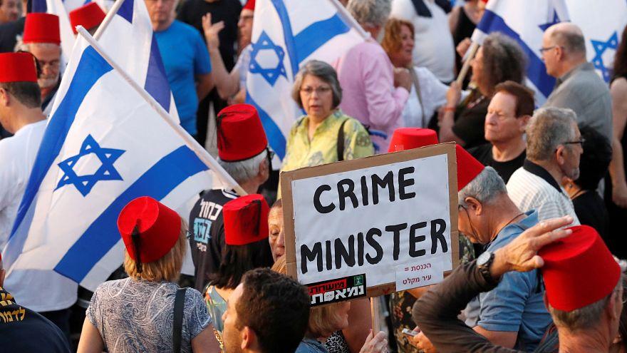 """İsrail'de muhalefetten Netanyahu karşıtı eylem: """"Erdoğan olmana izin vermeyeceğiz"""""""
