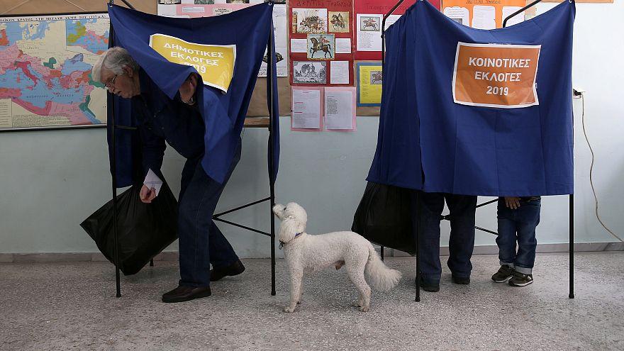 Colegio electoral en Atenas