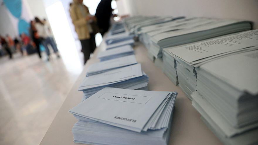 Colegio electoral en Madrid