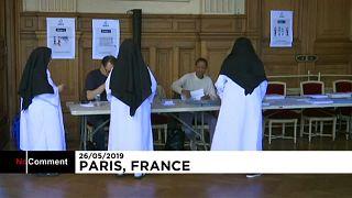 Apácák szavazóhelyisége Párizsban