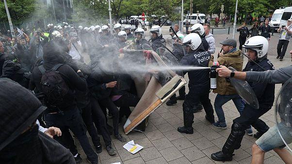 اعتراض جلیقه زردهای بروکسل علیه «دیکتاتوری اروپایی»