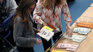 فرز الأصوات في البرلمان الأوروبي