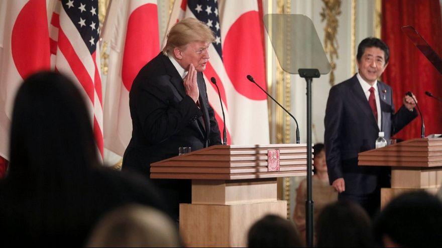 دونالد ترامپ در توکیو: واشنگتن به دنبال تغییر رژیم در ایران نیست