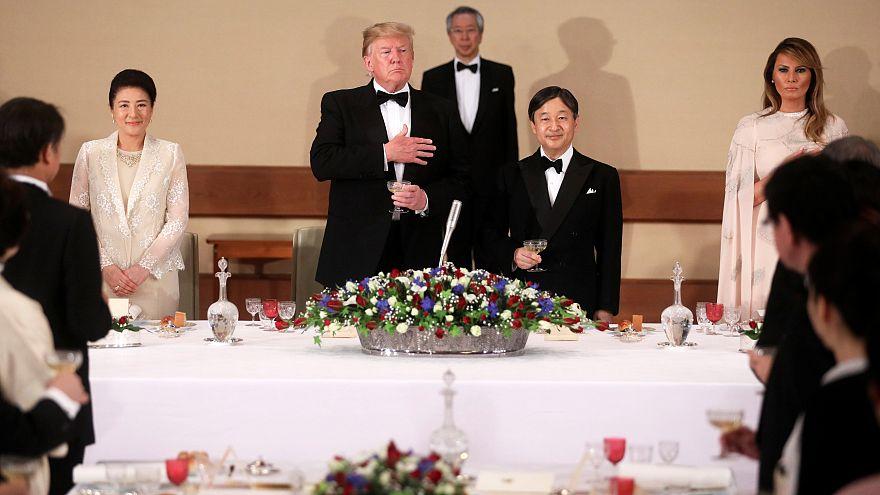 Trump az első elnök, akit fogadott az új japán császár