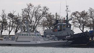 Rusya'nın el koyduğu Ukrayna'ya ait savaş gemileri