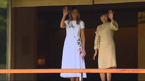 Akie Abe and Melania Trump enjoy flute concert at Akasaka Palace