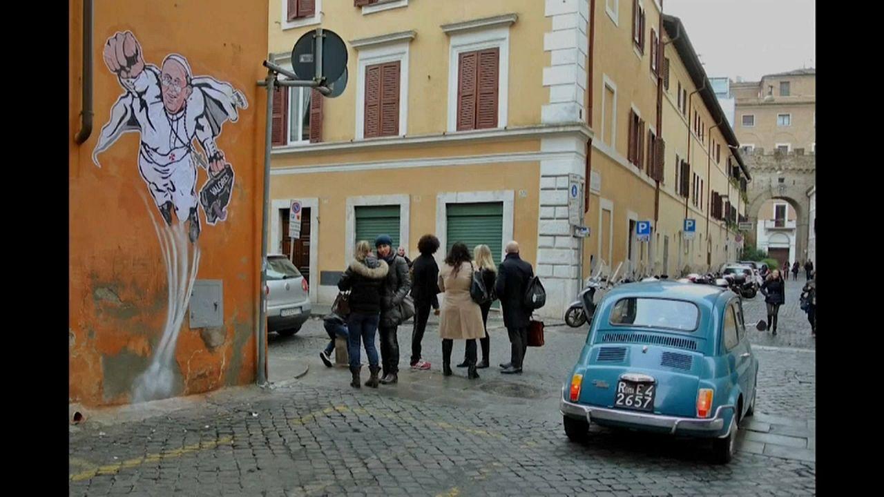 Az utca művészete egy római galériában
