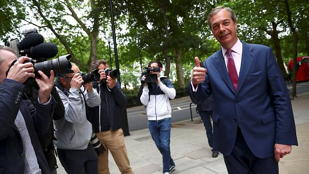 Nigel Farage told Euronews his Brexit party was 'here for the long term'