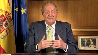 El rey emérito Juan Carlos I en el momento de su abdicación (02/06/2014)