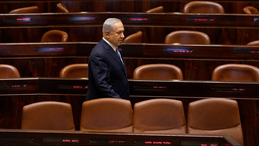 بنیامین نتانیاهو، نخست وزیر اسرائیل در پارلمان این کشور