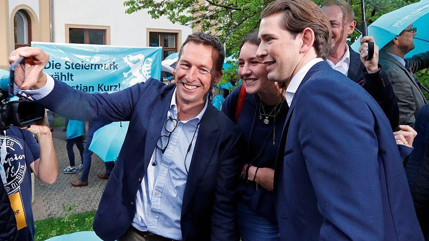Blasmusik und Bier: Sebastian Kurz feiert nach Abwahl Misstrauensparty