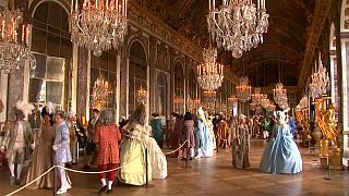 Costumed guests go back centuries at Palace of Versailles