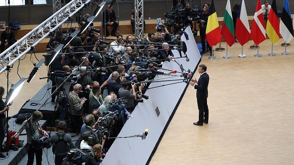 Presidente francês à chegada para cimeira da UE em Bruxelas