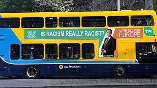 Dublin Bus sports joke MEP candidate's slogan 'Is Racism Really Racist?'