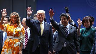 Τραμπ και Άμπε σε πολεμικό πλοίο της Ιαπωνίας