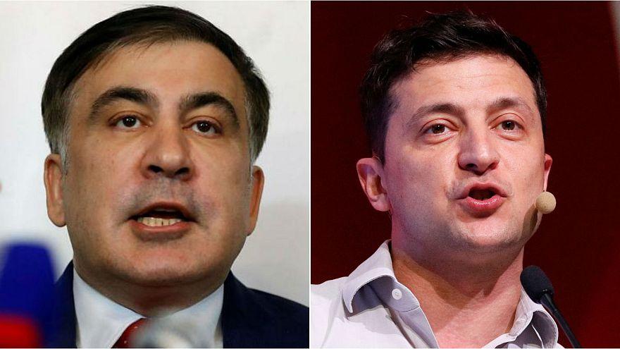 Former Georgian president Saakashvili cheered by supporters as he returns to Ukraine