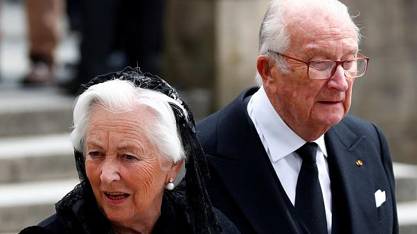 Albert II. und Paola von Belgien (Trauerfeier für Altgroßherzog Jean)