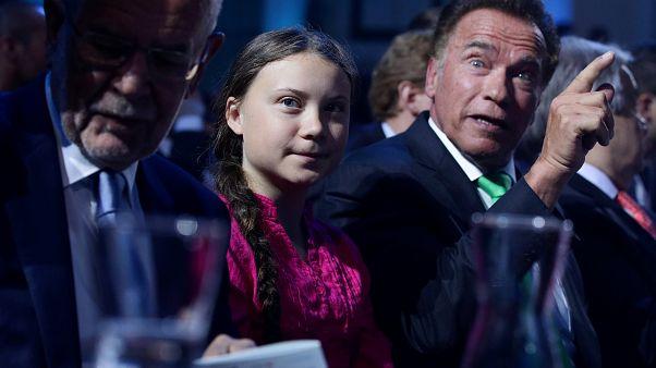 Prominentes Duo für den Klimakampf: Schwarzenegger und Greta Thunberg machen Druck
