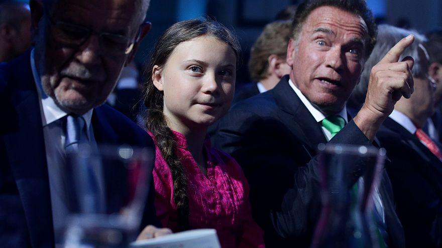 Vienna: Schwarzy e Greta alleati per il clima