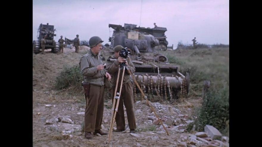 """O Dia """"D"""" a cores pela lente de George Stevens"""
