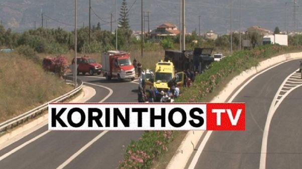 Κόρινθος: Ανετράπη κλούβα της αστυνομίας - Τραυματίες αστυνομικοί και κρατούμενοι
