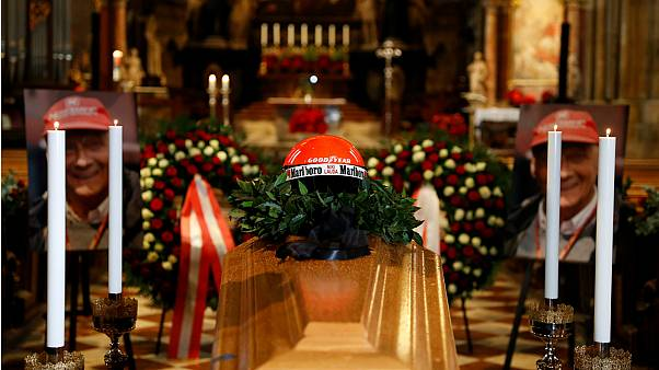 Family, friends and fans attend funeral of Formula 1 legend Niki Lauda