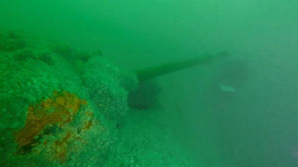 Tesouros submarinos da II Guerra Mundial na Normandia