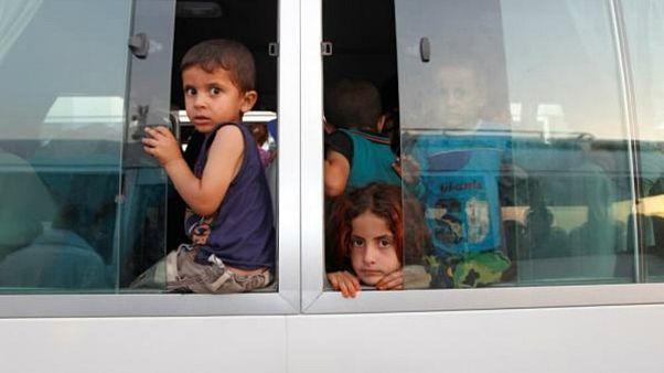 Aileleri IŞİD'li olan 188 Türk çocuk Irak'tan Türkiye'ye iade edildi
