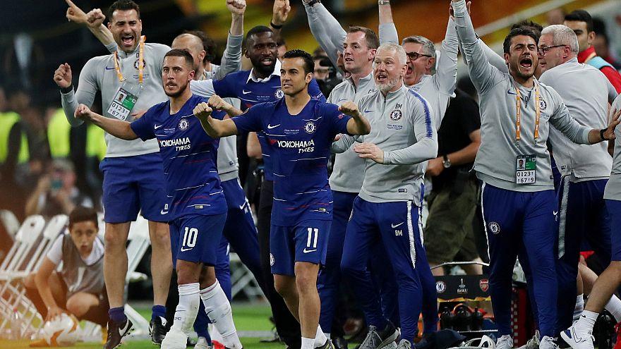UEFA Avrupa Ligi finalinde zafer Arsenal'i 4-1 yenen Chelsea'nin oldu